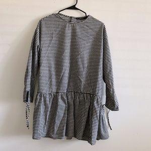 Zara Oversized Check Dress